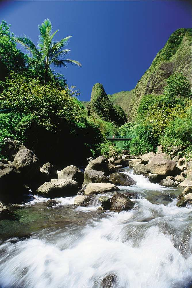 The Needle at Iao Valley State Park - Iao Valley State Park. Copyright Hawaii Tourism Authority (HTA) / Ron Dahlquist.