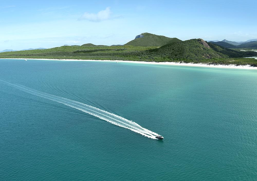 Qualia and Whitehaven Beach - qualia, Great Barrier Reef. Copyright Hamilton Island Enterprises.