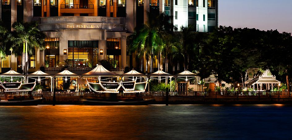 View from the river - Peninsula Bangkok. Copyright Peninsula Bangkok.