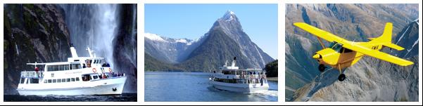 Milford Sound Scenic Flight and Scenic Boat Cruise - New Zealand Scenic Flights.