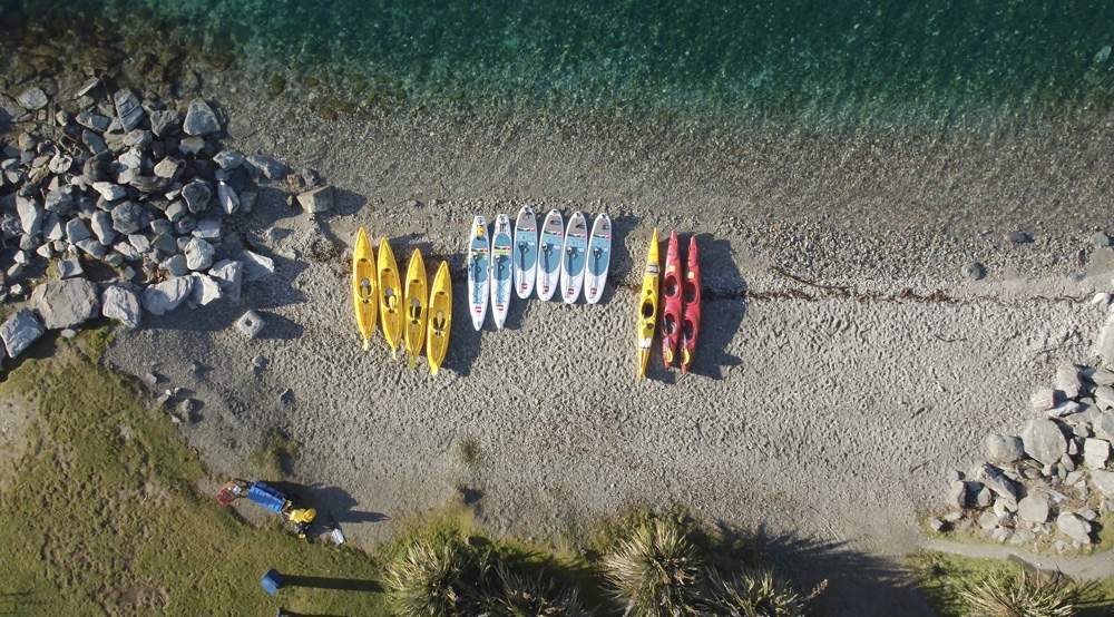 Beach Hire - Queenstown Sea Kayaks. Copyright Queenstown Sea Kayaks.